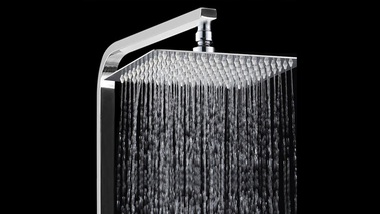 Bathroom Fixtures silver 6 Inch Stainless Steel Ultra-thin Waterfall Shower Heads Square High Pressure Rainfall Shower Head Rain Showerheads