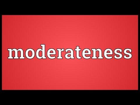 Header of moderateness