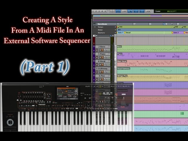 Part 1-Creating Style from Midi in a DAW (Korg Arranger Keyboards)