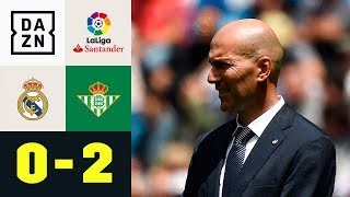 Zidanes Königliche vergeigen Saisonfinale: Real Madrid - Real Betis 0:2   La Liga   DAZN Highlights