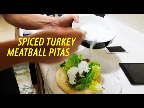 How to cook Spiced Turkey Meatballs Pitas [full process]
