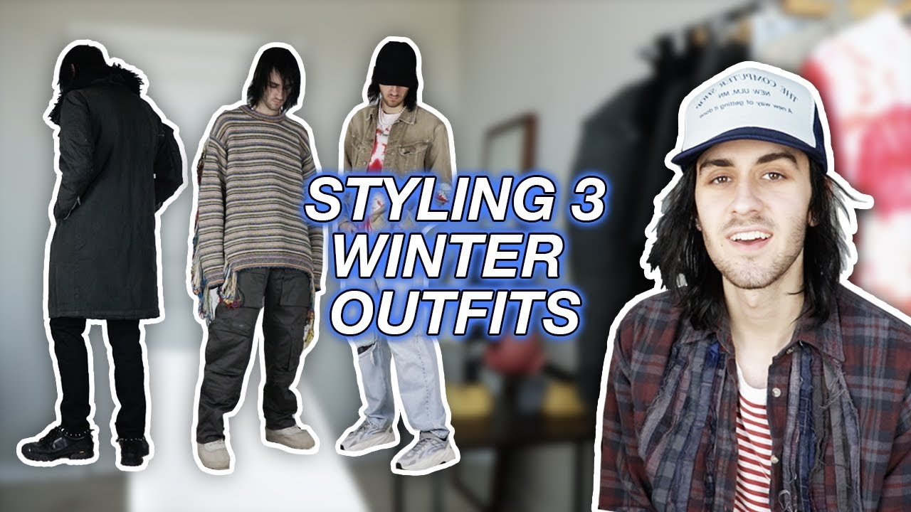 Styling Winter Outfits (Kapital, Helmut Lang, Number (N)ine)