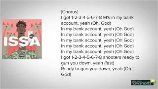 21 Savage - Bank Account LYRICS!!!!