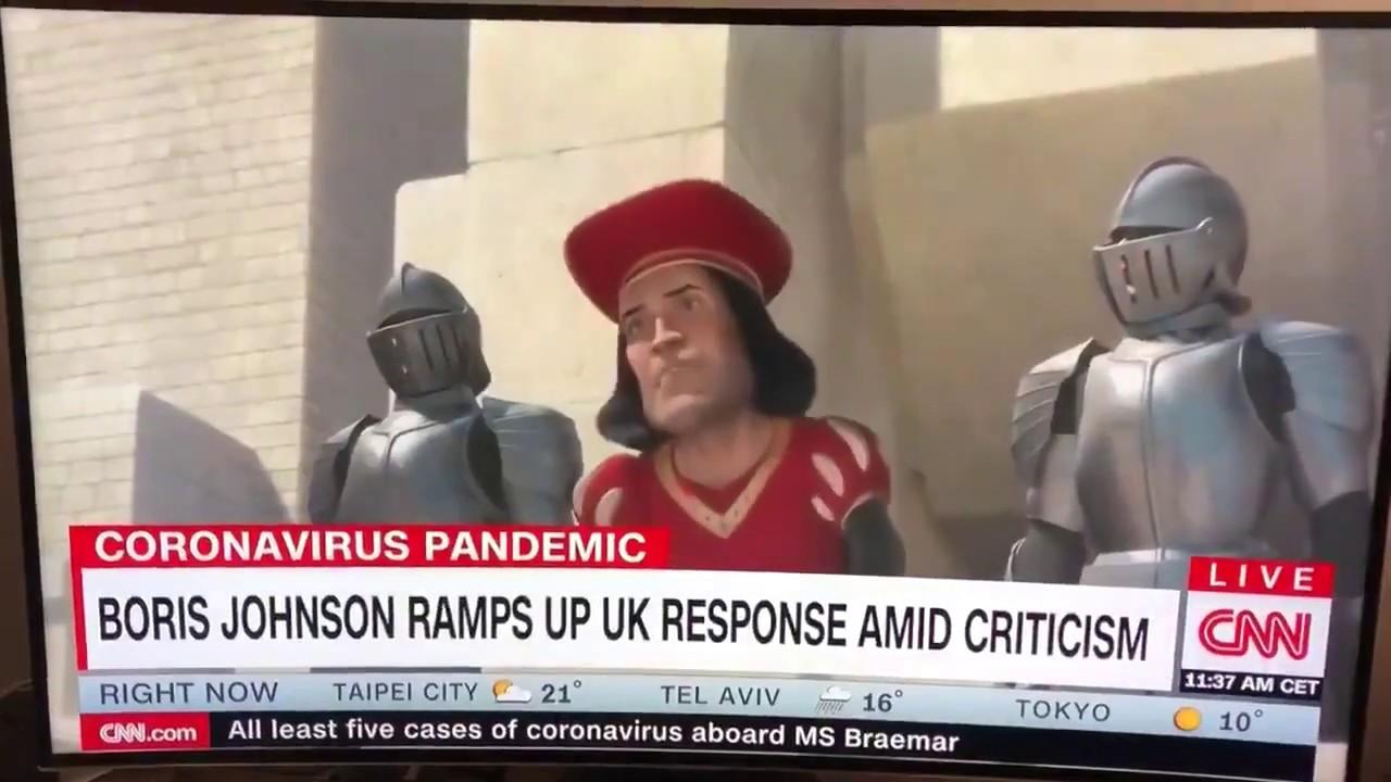 CNN uses clip of Lord Farquad Shrek alongside Boris Johnson