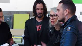 Keanu Reeves and Alexandra Grant, Sign their Book Shadows, in Paris.
