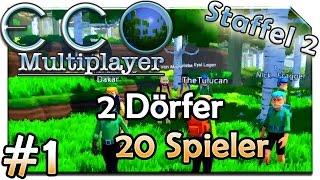 2 Dörfer 20 Spieler! | ECO Multiplayer | S.2 #1 | Lets Play ECO 🌳 | Alpha 5.5 | [HD] | Deutsch