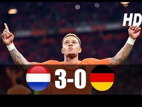 Hollanda vs Almanya 3-0 Maç Özeti HD (13/10/2018)