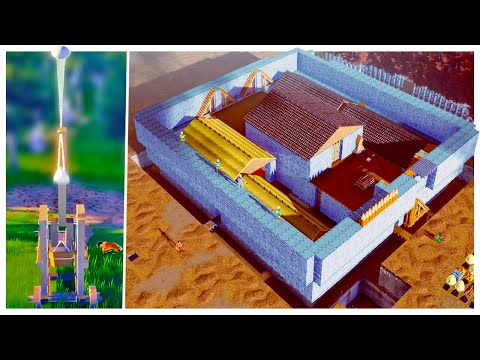 The Enemy Has Trebuchets! - Building A Massive Castle Wall - Going Medieval |