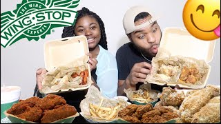 ULTIMATE WINGSTOP *MUKBANG*!!! EATING SHOW!!! CHICKEN WINGS and FRIES 🍟 🍗