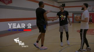 YEAR 2 in the NBA | CLIPPERS , Terance Mann and Mfiondu Kabengele training w Julius V