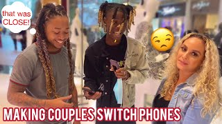 MAKING COUPLES SWITCH PHONES Loyalty Test 💔ATLANTA MALL EDITION | PUBLIC INTERVIEW