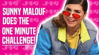 Team 10's Sunny Malouf Does the One Minute Challenge With J-14