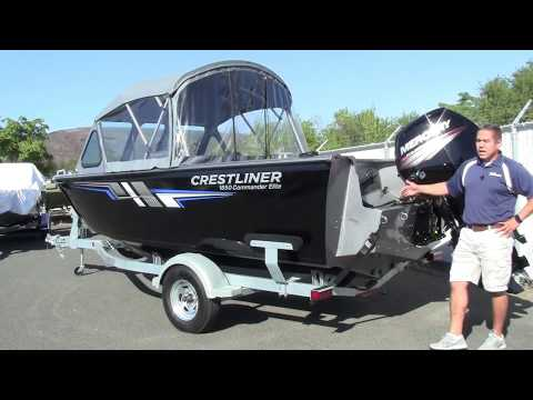 CLOSEOUT 2017 Crestliner 1850 Commander Elite - YouTube