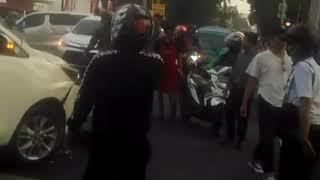 Kecelakaan Beruntun di Jln Jenderal Sudirman Kota Bogor