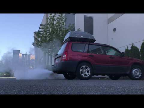 Spy Hunter Smoke Show:  Seafoam upper engine cleaning on 2003 Subaru Forester 2.5 X