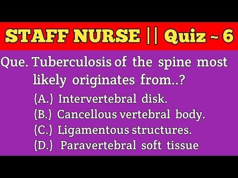 STAFF NURSE Quiz - 6 🔥🔥|| For AIIMS RRB JIPMER MRB DSSSB