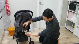 팔리 아이고 기내반입형 휴대용유모차 - 등받이 조절 방…