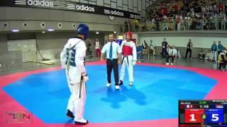 1015-Markovic, Marko  SERBIA NATIONAL TEAM (SRB) vs Jermami, Mehdi  3MTKD (MONTPELLIER) (FRA) 11-8