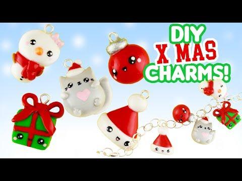 5 CHRISRMAS DIY's - CLAY CHARMS! | KAWAII FRIDAY X-mas Special!