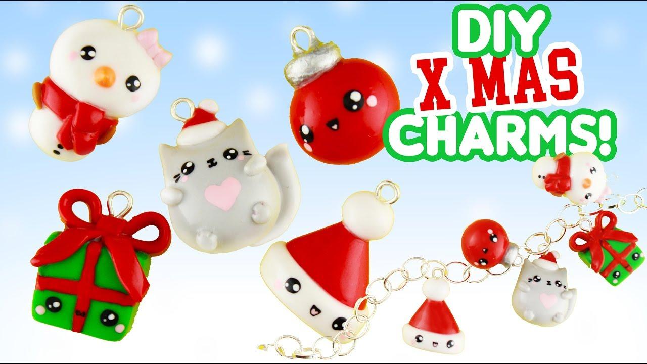 Polymer Clay Christmas Charms.5 Chrisrmas Diy S Clay Charms Kawaii Friday X Mas Special