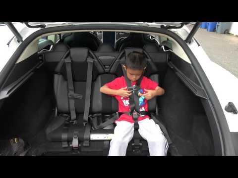 Tesla Model S Trunk Rear Facing Jump Seats Third Row
