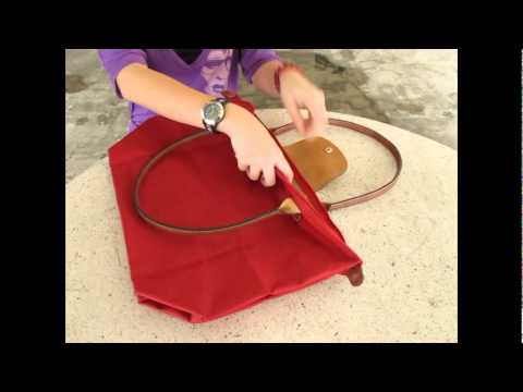 Comment plier un sac longchamp ?