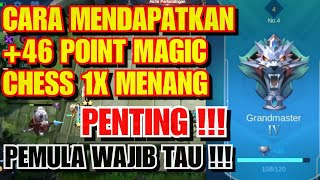 CARA MENDAPATKAN POINT +46 DI MAGIC CHESS MOBILE LEGEND || CEPAT WIN COMBO TERBAIK MAGIC CHESS