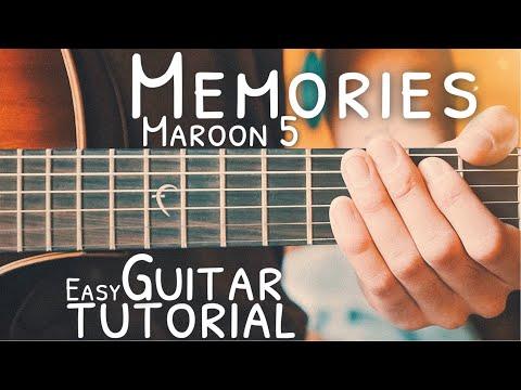Memories Maroon 5 Guitar Tutorial // Memories Guitar // Guitar Lesson #735
