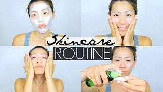 how i get clear glowy skin   skincare routine for oily combination acne prone skin summer 2016