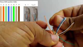 Como fazer cabo de rede com conector RJ45