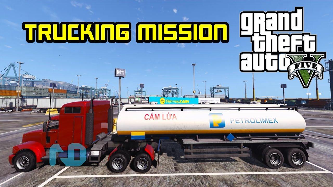 GTA 5 – Làm tài xế xe đầu kéo chở bồn Petrolimex !!!