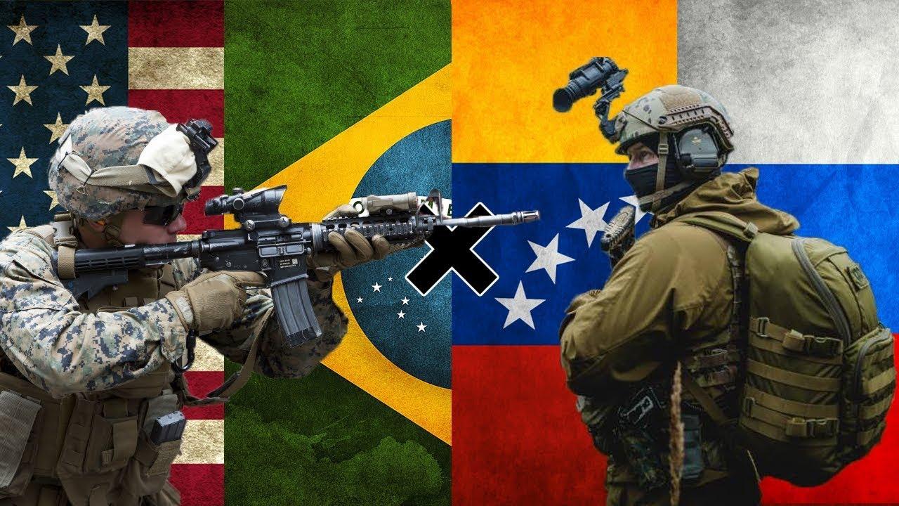 Brasil E EUA X Venezuela E Russia