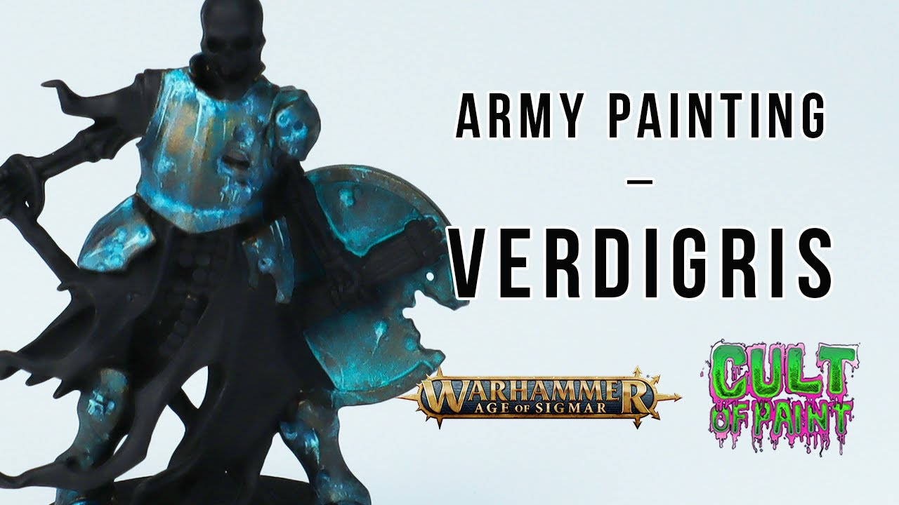How to Paint VERDIGRIS on your miniatures.