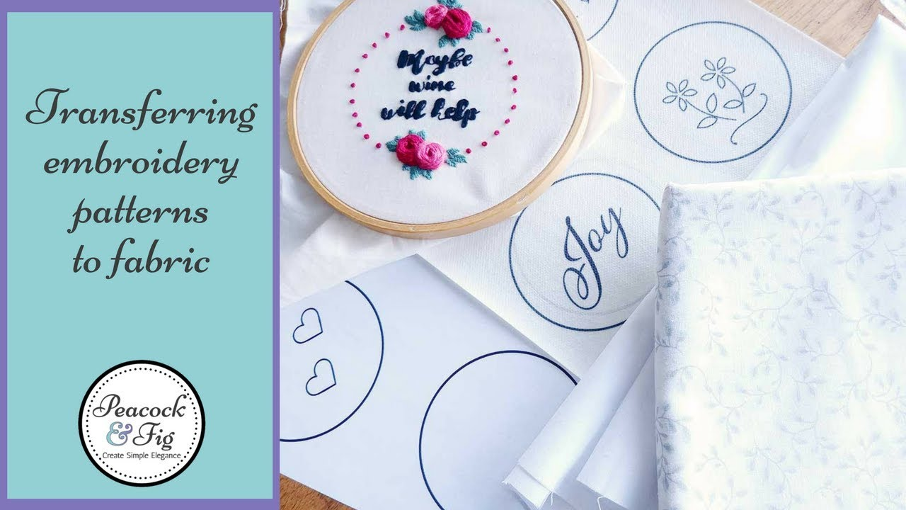 photograph about Printable Embroidery Transfer Paper called Going embroidery types towards material