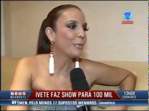Ivete Sangalo comanda show para 100 mil pessoas em Feira de Santana (BA)