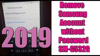 How to Unlock / Remove Samsung Account without Password SM-G...