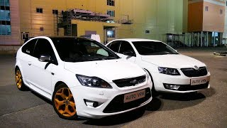 МОЩНЫЙ FORD ST или ДИКАЯ SKODA !!! OCTAVIA A7 1.8T. Stage 2 vs FORD FOCUS ST  ГОНКА !!!