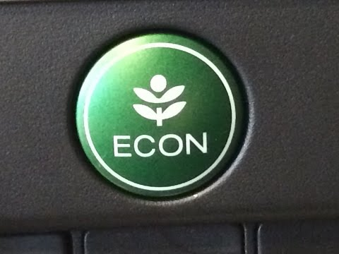 How the Econ button works on a new Honda. How it really works!!
