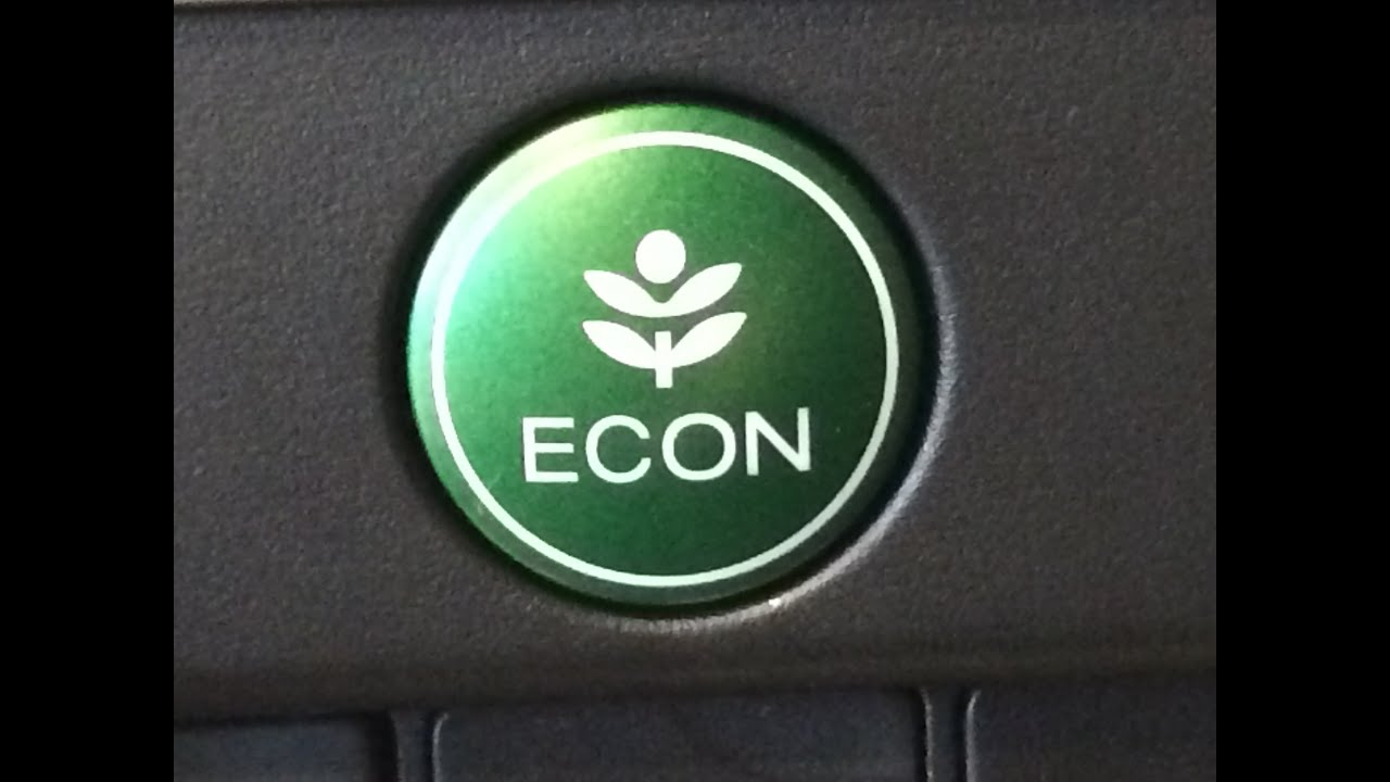 Honda Civic Econ Button >> How the Econ button works on a new Honda. How it really works!! - YouTube