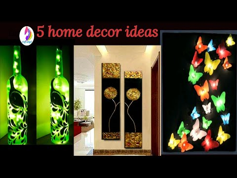 5 wall decor ideas / waste material craft / do it yourself /best out of waste / craft/amazing pixies