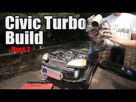 Budget Civic Ebay Turbo Kit Install Part 1