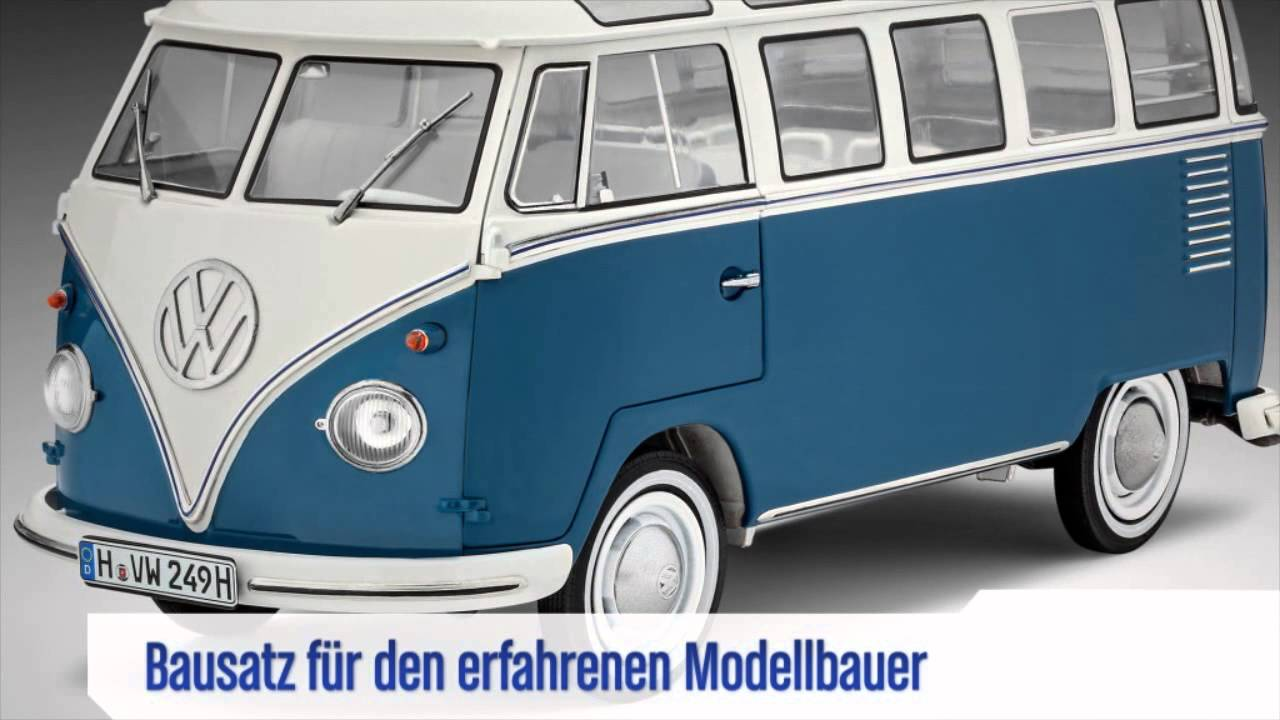 macheta volkswagen t1 samba bus revell 07009 youtube. Black Bedroom Furniture Sets. Home Design Ideas