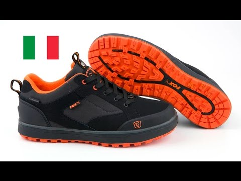 "7a875c9615 ***Carp Fishing TV Italia*** SCARPE ""BLACK AND ORANGE TRAINERS"""