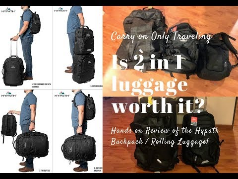 Carry On Only Luggage - 2 In 1 Backpack Into Rolling Luggage Review!