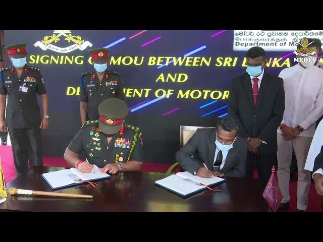 General Shavendra Silva ,CDS & Commander Of the Army, signed MOU @ AITSC Werahera 01.01.2021
