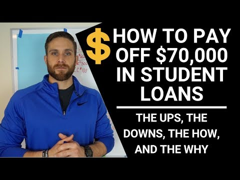 DEBT FREE!! WHAT IT TAKES TO PAY OFF $70,000 IN STUDENT LOANS!!! (college debt)