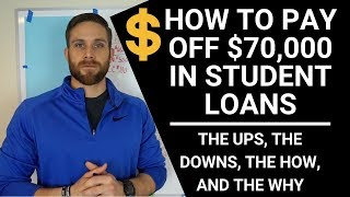 DEBT FREE!! WHAT IT TAKES TO PAY OFF $70,000 IN STUDENT LOANS FAST!!! (HONEST TRUTH) thumbnail