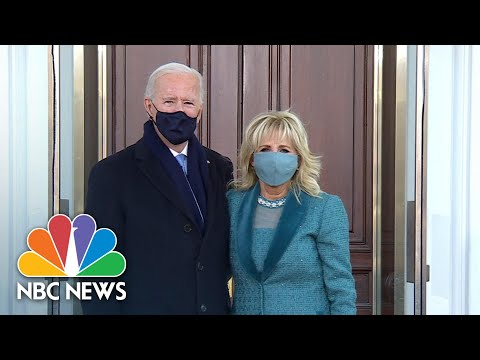 Joe Biden Arrives At White House For First Time As President | NBC News