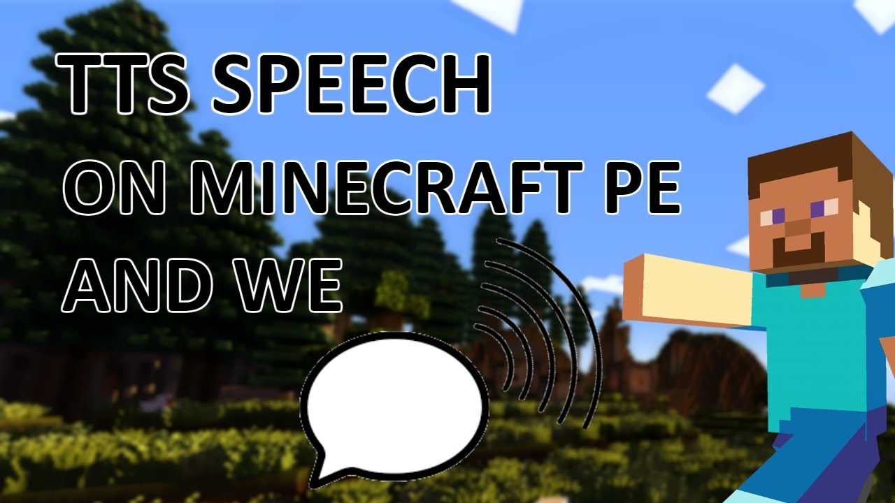 Text To Speech in Minecraft PE and WE 1 0+! | TTS Enable Tutorial