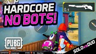 HARDCORE MODE - NO BOTS! MY 1ST GAME - Solo vs. Duo PUBG Mobile